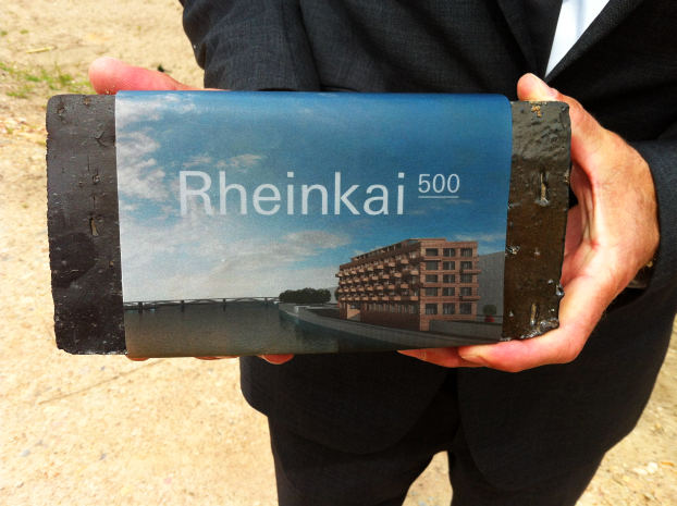 Rheinkai 500 first stone